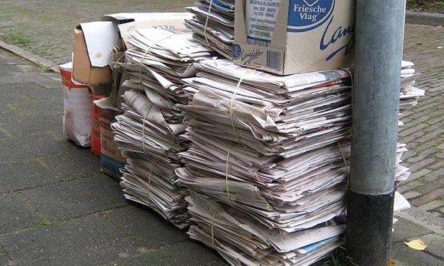 Nieuw schema oud papier ophalen De Oosterbrink i.s.m. Omrin